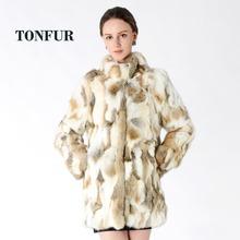 New Arrival Full Pelt Real Rabbit Fur Coat Women Nature Fur Jacket Female Fashion Factory good