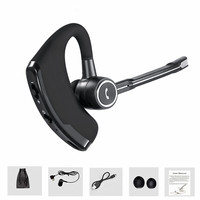 Voice Control Business Bluetooth Headset Earphone Handsfree Wireless Headphones Noise Cancelling Sports Music Bluetooth Earbud