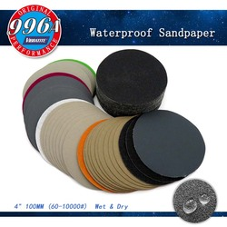 50pcs 4 Inch 100mm Waterproof Sandpaper 60 to 10000 Grit Hook & Loop Silicon Carbide Sanding Disc Wet/Dry for Polishing Grinding
