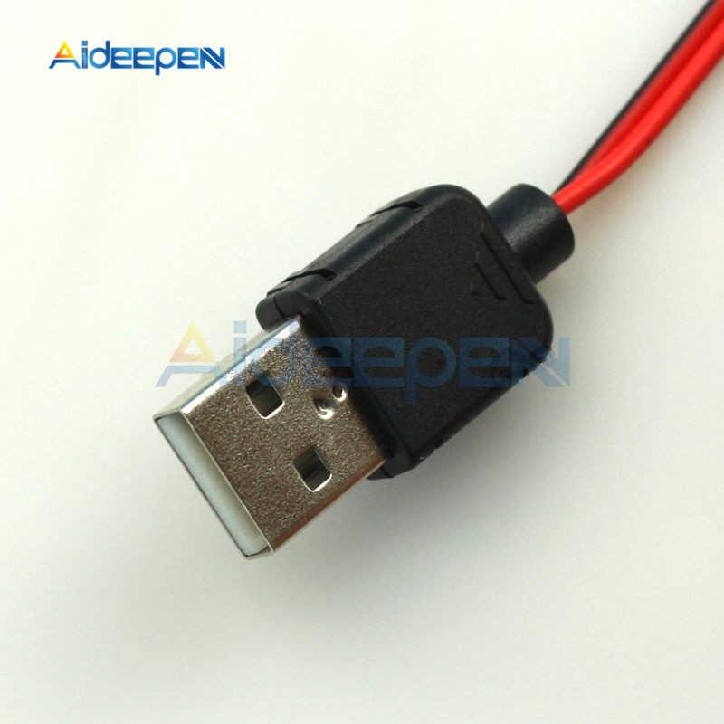 Pinzas de cocodrilo USB enchufe Cable de cocodrilo macho AV a USB probador Detector DC medidor de voltaje amperímetro capacidad medidor de potencia Monitor