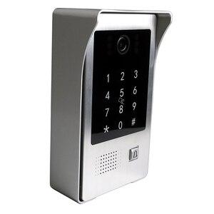 "Image 2 - Free Shipping WIFI IP 7"" Touch Screen LCD Video Intercom Door Phone Record Kit Code Keypad IC Waterproof Camera Electric Lock"