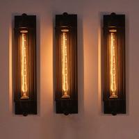 Домашний деко лофт американский балкон винтажная Железная флейта настенная лампа промышленный E27 Эдисон лампа бра светильник DIY бар огни