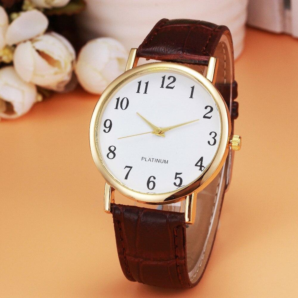 Retro Design Clock Watch Men's Black Leather Band Analog Quartz Watch Men Luxury Golden Dial Wrist Watches Business Montre  @9
