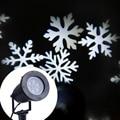 Водонепроницаемая наружная светодиодная белая Снежинка лампа для прожектора лужайка светодиодная Рождественская лампа проекция звезд