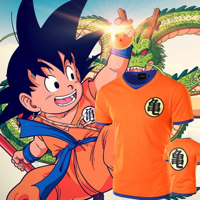 New Dragon Ball T shirt Men Tee Shirt Homme 2016 Summer Style Anime Comic V Neck Tshirt Casual Brand Cotton Cosplay 3D T-shirt