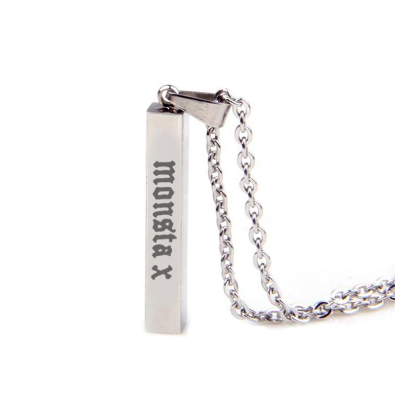 KPOP Monsta X Album Necklace K-POP Jewelry Pendant Chain K POP Men and Women Accessories Female Male Boy Girl