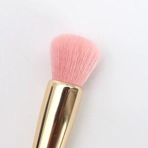 Image 5 - Brosse de maquillage avec soin en forme de diamant, poignée transparente, brosse Unique, cheveux doux face à face