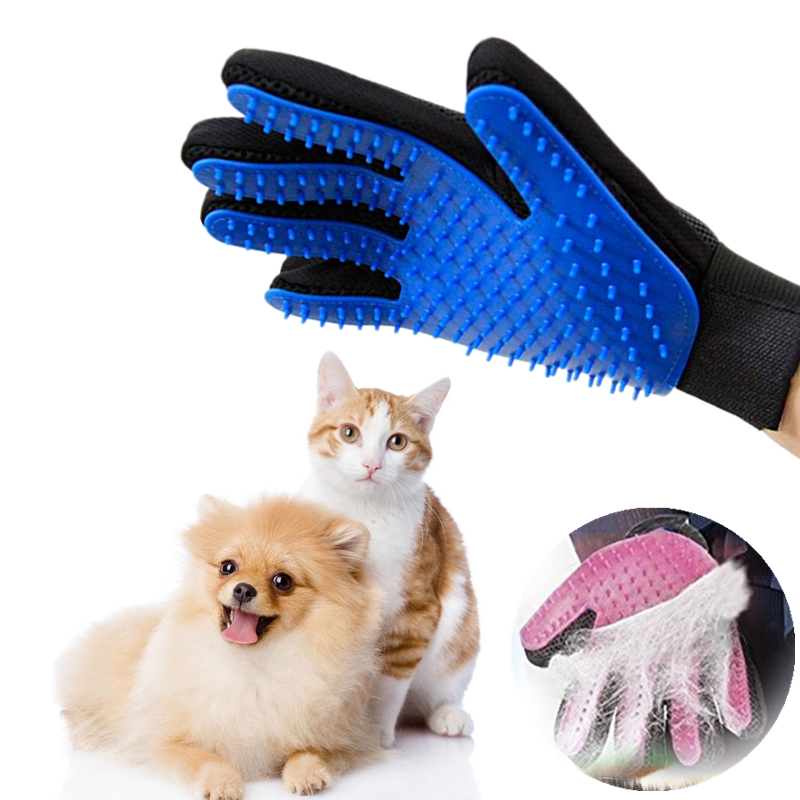 Pet Dog Hair Brush Comb Glove For Pet Cleaning Massage Glove For Animal Cleaning Cat Hair Glove Pet Grooming Supply
