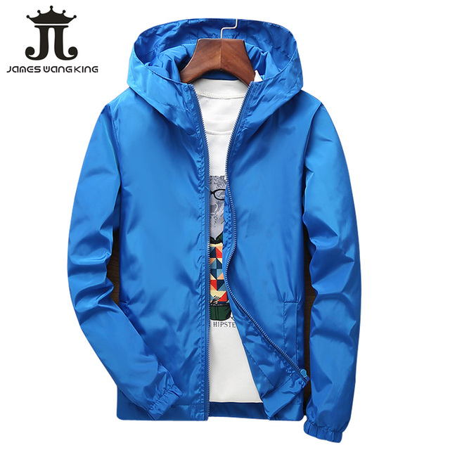 Autumn Hooded jacket men/women Lovers casual Thin solid Zipper windbreakers for man outdoor jacket plus size M-7XL 1718