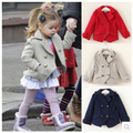 Girls Jackets New Fashion Baby Girls Coats Double-breasted Girls Outerwear Spring Autumn Children Outerwear Wool Coats for 2-7Y
