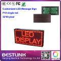 32*64 pixel led message sign p10 indoor single red led sign running text moving sign board electronic scoreboard led panel board
