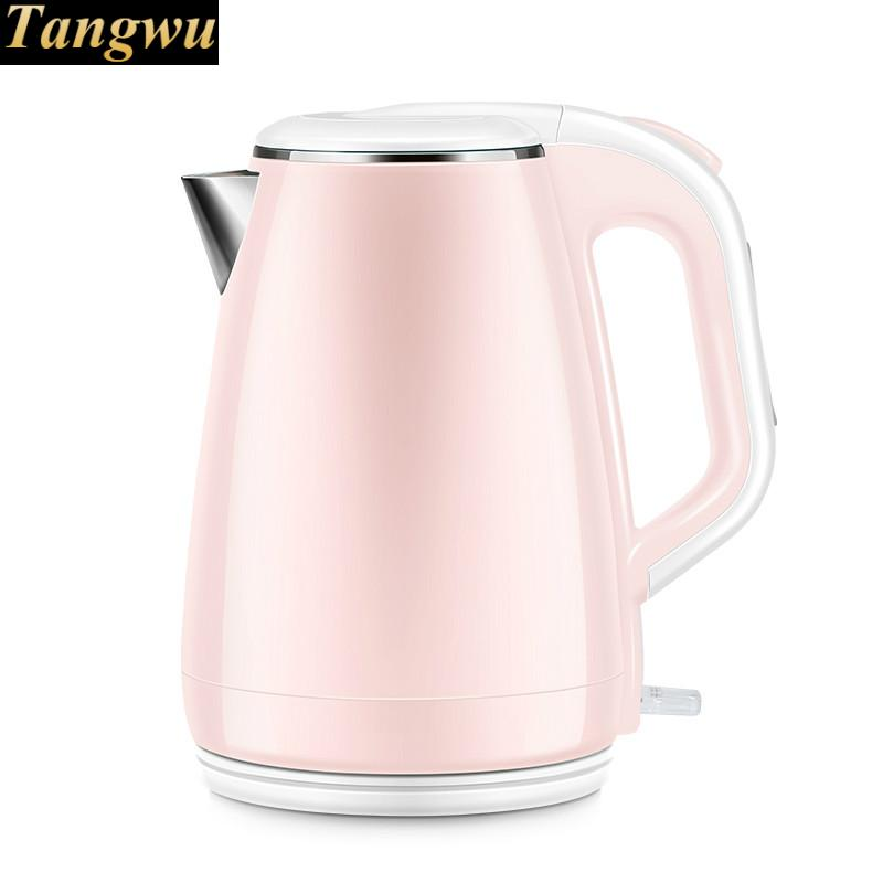 Electric kettle household automatic power off 304 stainless steel cukyi stainless steel 1800w electric kettle household 2l safety auto off function quick heating red gold