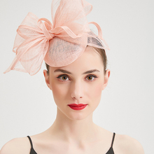 Women Elegant fascinator Fedoras Hats Ladies sinamay pillbox Flower Fascinators caps for Cocktail Wedding Party Church Headwear