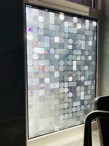 Image 5 - 3D Laser Colorful Foil Window Decorative Film Static Privacy Film Glass Sticker Crystal Frosted Opaque Sliding door Home Decor