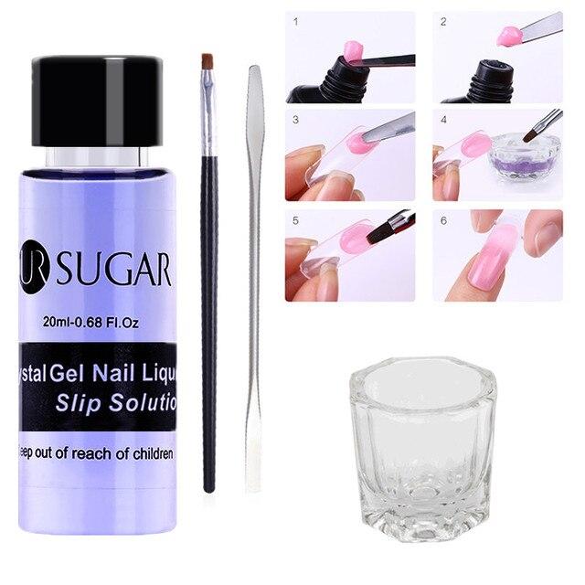 UR SUGAR Poly Extension Gel Nail Set Varnish Silp Solution Odorless Alcohol Substitutes Kit Nail Polish Manicure Builder UV Gel
