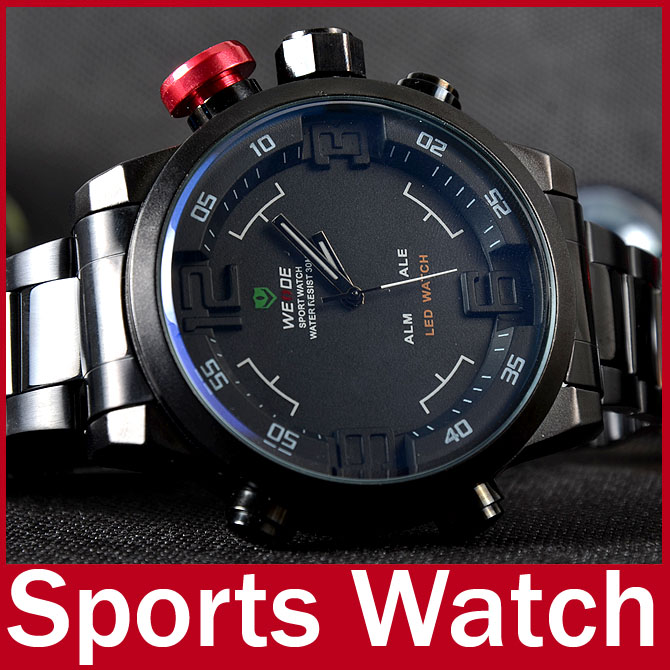 2015 famous brand weide fashion waterproof men full steel watch 2015 famous brand weide fashion waterproof men full steel watch men sport watch for man women military led digital wristwatch in digital watches from