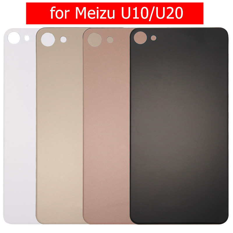 Glass-Panel Meizu Back-Cover Housing-Door Repair-Spare-Parts for U10/U20 Rear with 3m-Glue