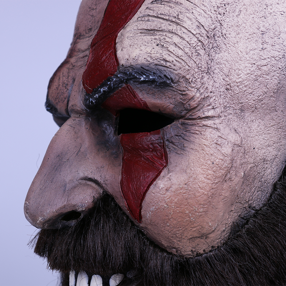 2018 Game God of War Kratos Leviathan Mask Cosplay Kratos Weapon Helmet Halloween Props (8)