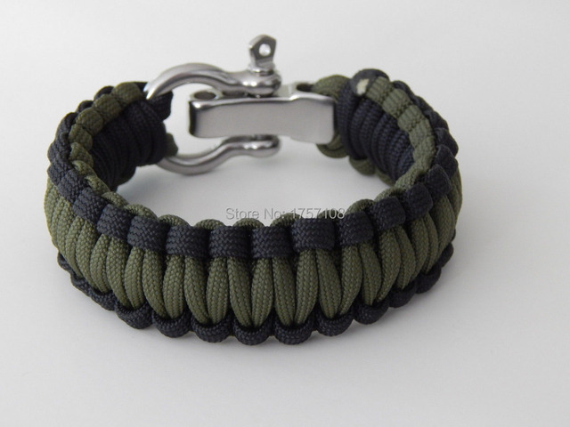 Military Adjule Metal Shackle Charms For Make A Paracord Bracelet