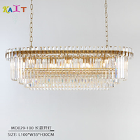 Modern Crystal Chandelier Luxury Oval Hanging Light Fixtures Dining Room Chandelier Ceiling For Living