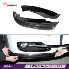 2014+ 316i 318d 320i 325d 328i 330d 325i carbon fiber air dam from bumper lip corner spoiler flaps for bmw 3 series f30