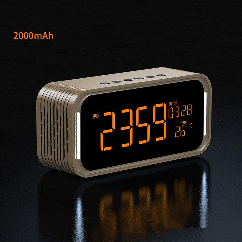 Bluetooth динамик 12 Вт стерео цифровой радио двойной будильник беспроводной динамик s AUX TF карта играть для детской вечеринки спальня кемпинг - 3