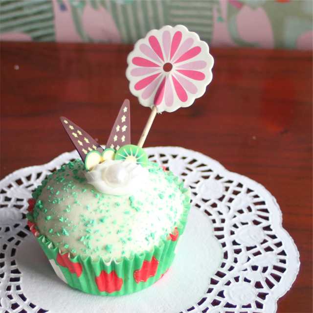 24 Root Lot Margarita Cupcake Insert Card For Birthday Cake Used
