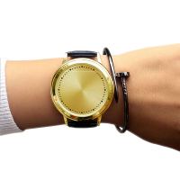 Creative LED Digital Watch Minimalist Unisex Leather Digital Watch Men Women Smart Electronic Watch Student Casual