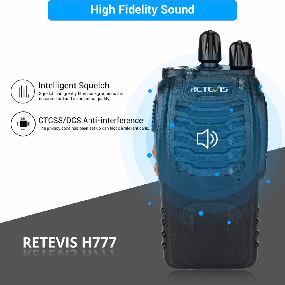 Image 3 - 4 pcs Handy Walkie Talkie RETEVIS H777 3W UHF Transceiver Two Way Radio Station Communicator Two way Radio Walkie Talkie Hotel-in Walkie Talkie from Cellphones & Telecommunications