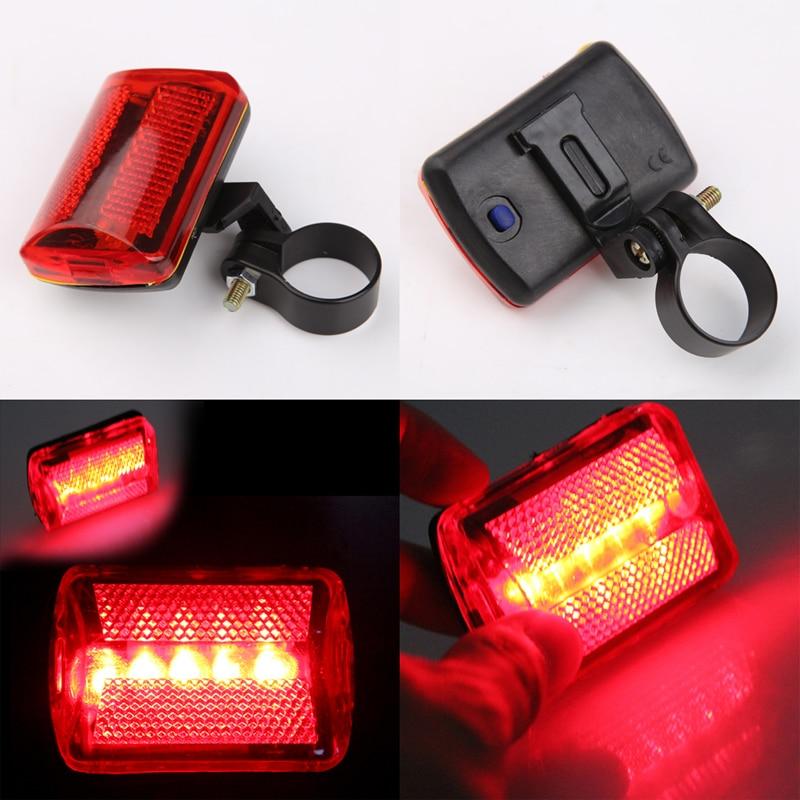 5 LED zadní sedlo červené světlo MTB Bike Zadní zadní světlo - Cyklistika