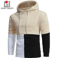 John S Bakery Brand 2018 New Hoodies Brand Men Color Splicing Sweatshirt Male Hoody Hip Hop