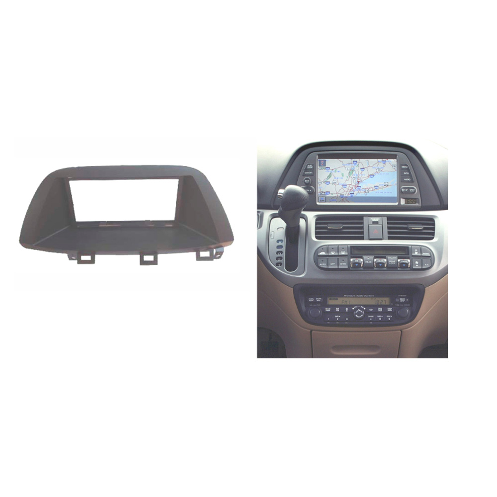 double din audio fascia for honda odyssey 2005 2010 radio. Black Bedroom Furniture Sets. Home Design Ideas