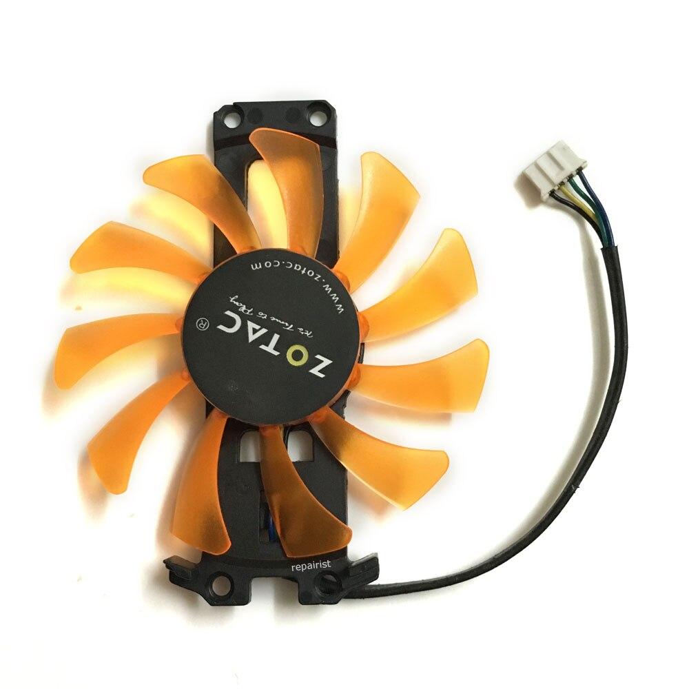 Ordinateur carte Graphique ventilateur 4Pin GTX980 VGA GPU Refroidisseur Fans Pour ZOTAC GTX 980-4GD5 AMP HA Carte Vidéo de refroidissement