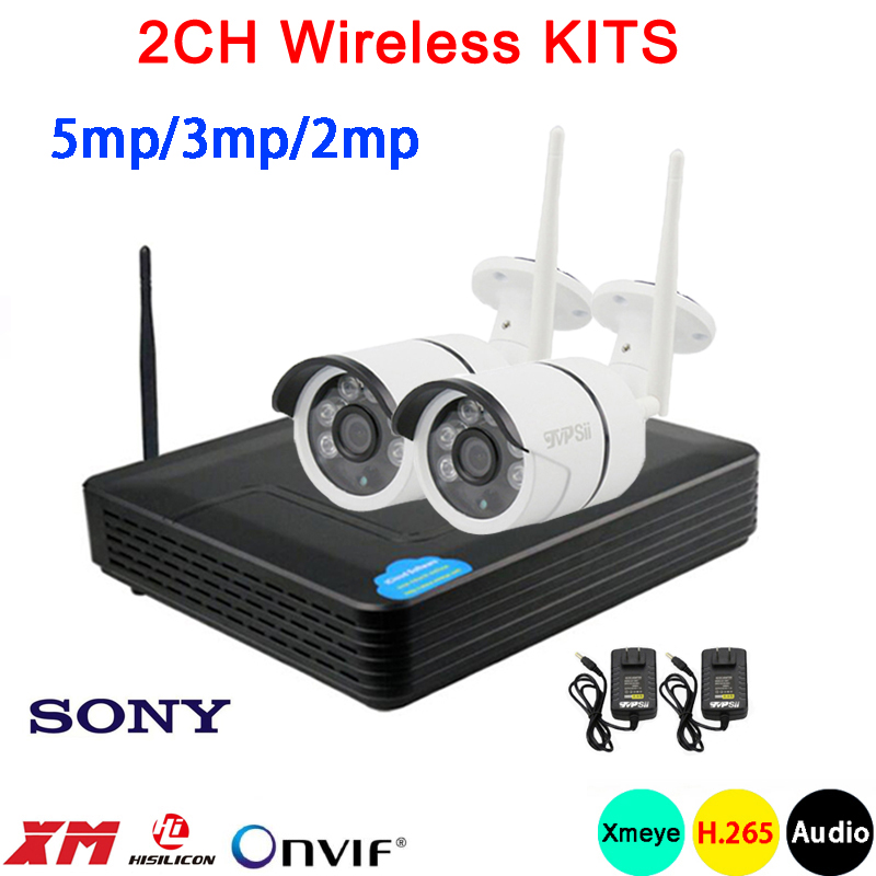 5mp 3mp 2mp Six array Infrared Waterproof H 265 Audio 25fps 2CH 2 Channel WIFI Wireless