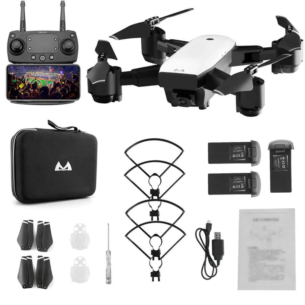 SMRC S20 pliable 6 axes gyroscope FPV Drone RC quadrirotor avec 360 'Flips grand Angle 1080P caméra Altitude tenir trois Batteries