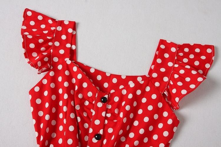 ALPHALMODA 18 New Polka Dot Shirt Pocket Dress Petal Sleeve Single Breasted Slim Sashes Women Fashion Summer Vestidos 7