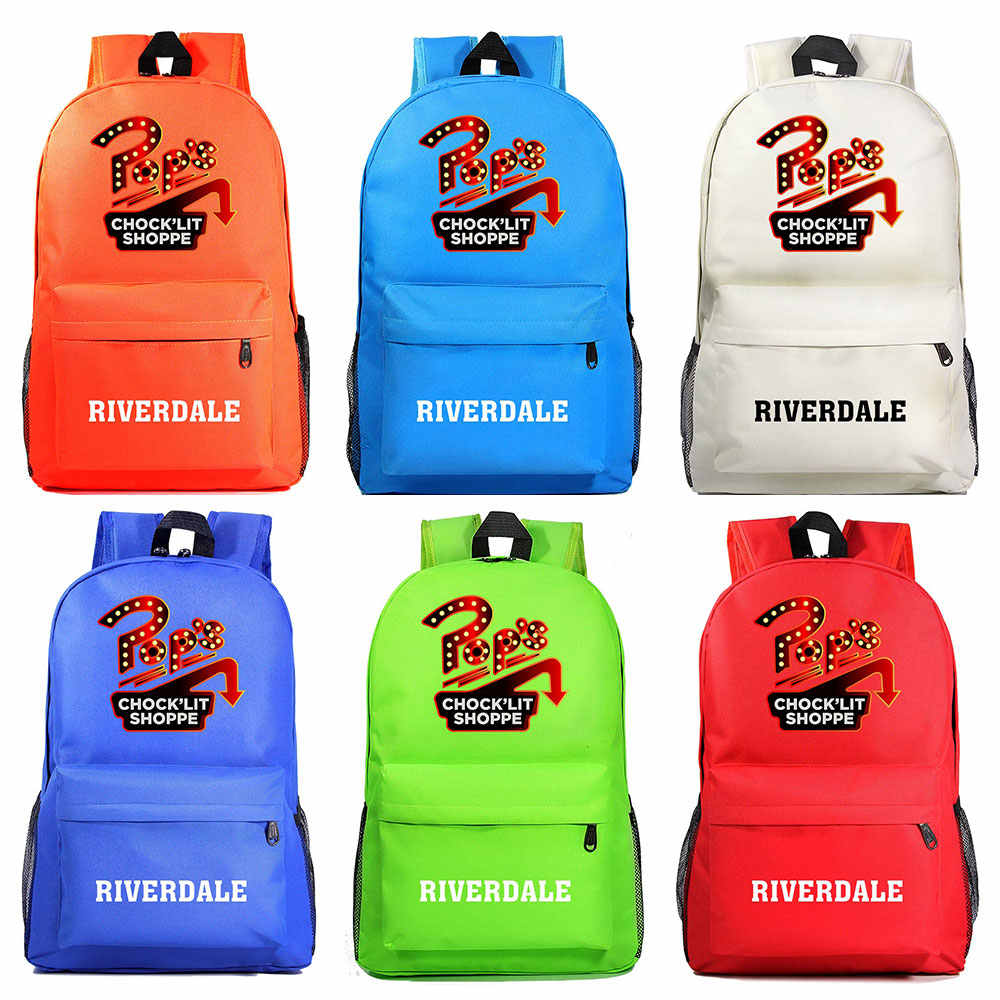 Fashion pop's chock'lit shoppe Riverdale Light Boy Girl Book School bag Women Bagpack Teenagers Schoolbags Men Student Backpacks
