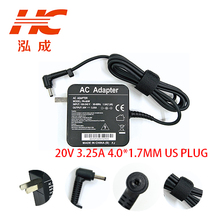 US 20 V 3.25 A 4.0 *1.7mm 65 W ADLX65CDGE2A AC Adapter Charger for LENOVO YOGA 710 510 5A10K78753 01FR142 power supply цены