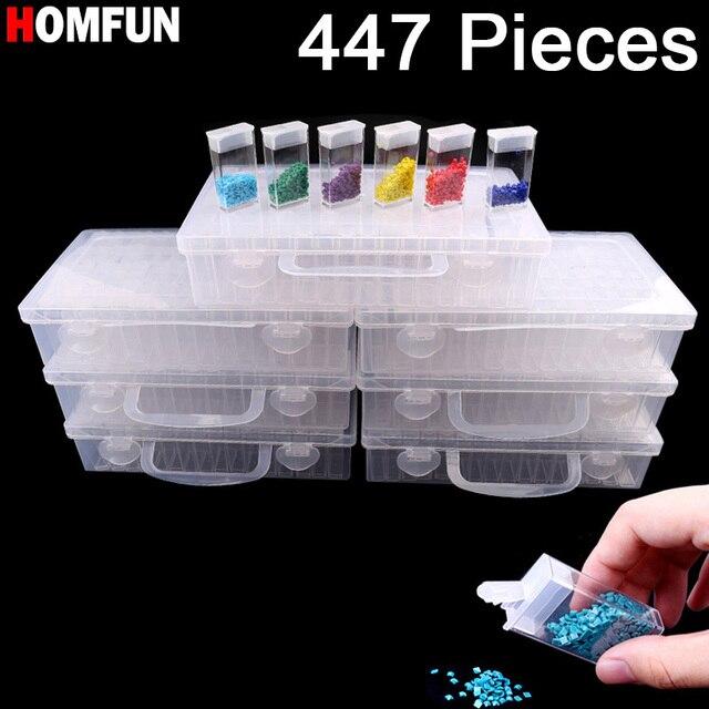 HOMFUN Novo Diamante bordado pintura diamante ferramenta! Daimond transparente caixa de armazenamento de plástico, Caixa de Armazenamento de jóias Broca Presente