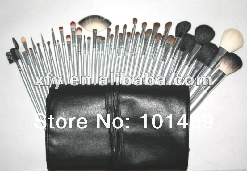 40pcs Synthetic Cosmetic Brush Sets Professional Makeup Brush Set tools Make-up Toiletry Kit Wool Brand Make Up Brush Set Case hot sale 2016 soft beauty woolen 24 pcs cosmetic kit makeup brush set tools make up make up brush with case drop shipping 31