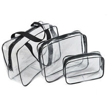 PVC Makeup Bag Waterproof Cute Clear Transparent Plastic Travel Cosmetic Toiletry Zip Pouch
