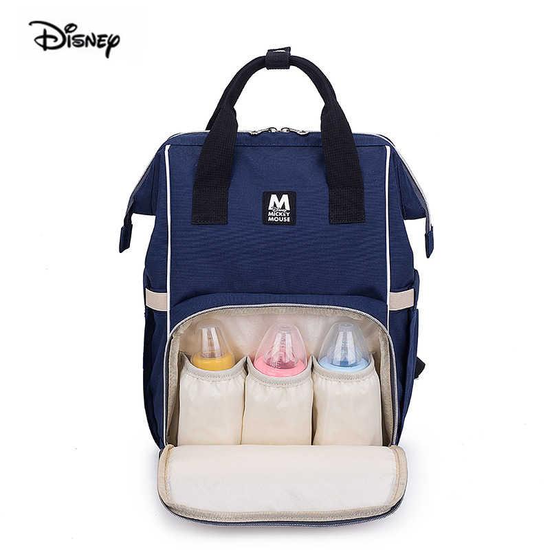 Disney 2019 Nuovo Zaino Del Bambino Per La Mamma Multifunzione di Grande Capienza del Sacchetto Della Madre Pannolino Materna Zaino Per Pannolini Dropshipping