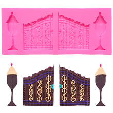 Retro Door Silicone Mold Chocolate Cake Decorating Candy Molds Muffin Baking Tools For Cakes Biscuit