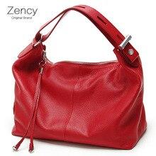 Zency Top Schicht Weichen Echtleder Schulter Tasche OL Style Echtes Leder frauen Handtaschen Damen Bolso Umhängetaschen Bolsa