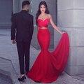 2017 Prom Vestidos Plisados Amor de La Sirena Vestido de Fiesta Sexy Equipada CG-105 de Noche Largos Vestidos Del Partido Vestidos Del Desfile Formales