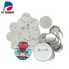 200 наборов(56 мм) пустая кнопка значок материал части, Прямая с фабрики