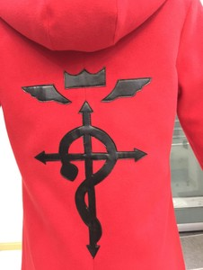 Image 3 - Anime Full Metal Alchemist Cosplay Edward Elric Costume FullMetal Alchemist hooded coat Custom Made