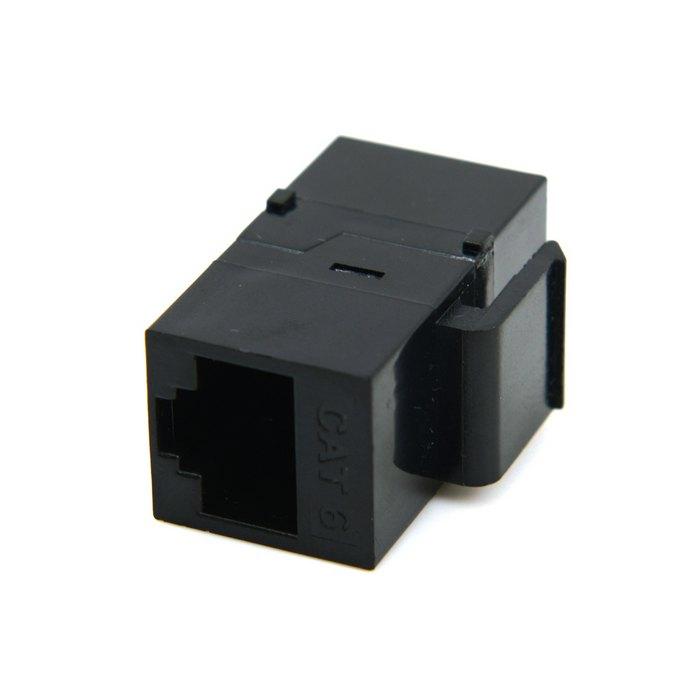 Ethernet Cables (rj-45/8p8c) Cat6 Keystone Coupler Black