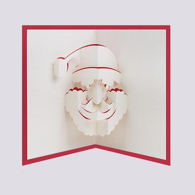 10 Stücke 3D Kreative Weihnachtsmann Handgemachte Kirigami Origami Für  Frohe Weihnachten Einladungskarten Greeding Postkarte