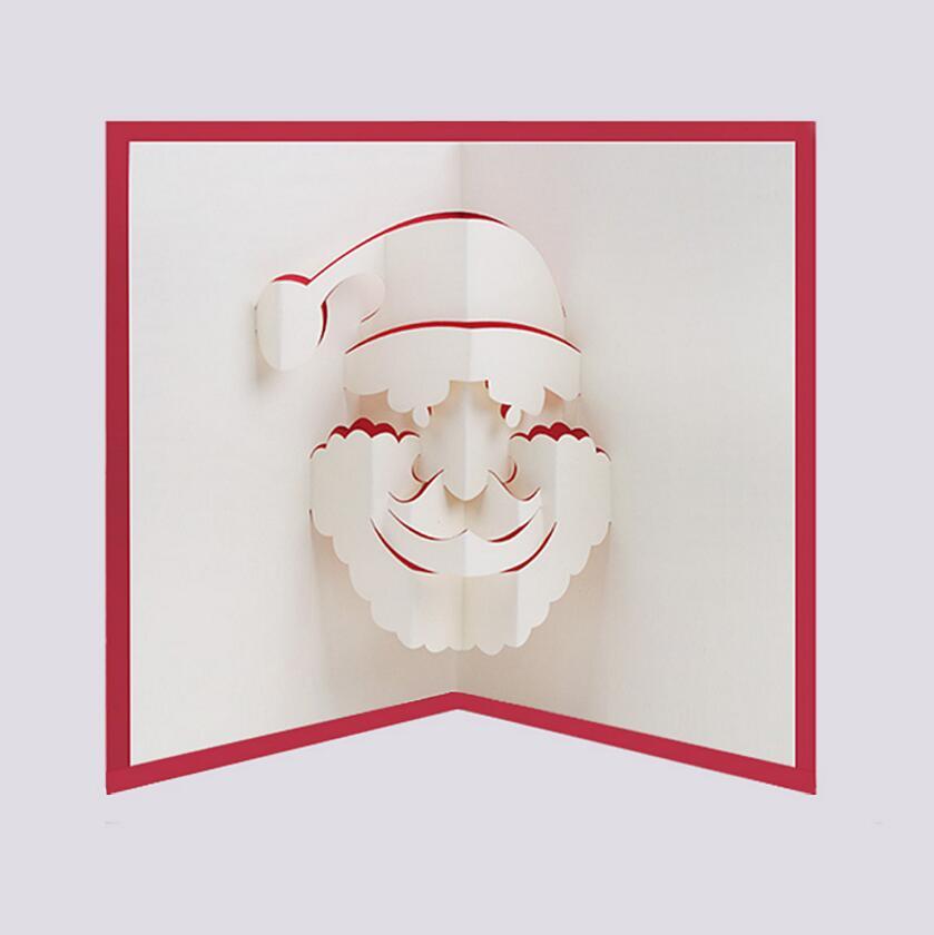 10pcs 3d Creative Santa Claus Handmade Kirigami Origami For Merry - Origami-papa-noel